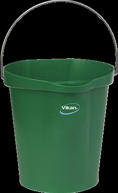 VIKAN emmer, 12 liter groen, maatverdeling en schenktuit
