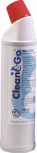 TOILET WC REINIGER CLEAN&GO MIKRO 835 (0.75 LTR) PERIODIEK