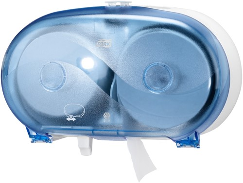 TORK Twin Hulsloos Mid-size Toiletpapier Dispenser Kunststof Blauw T7