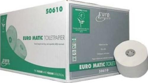 TOILET ROL MET DOP 2 laags wit 150 meter  36 rol in doos P50610