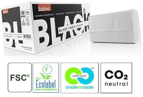 SATINO BLACK handdoekjes interfold z-vouw 156800