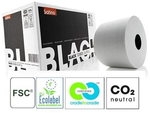 Satino Black toiletpapier compactrol wit 131803