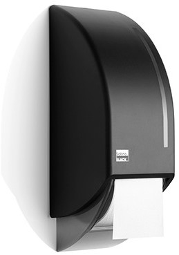 SATINO BLACK toiletroldispenser voor 2 rollen 180286