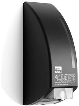 SATINO BLACK toiletbrilreiniger dispenser voor 750 ml cartridge 180290