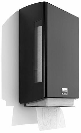 SATINO BLACK BriQ single Toiletpapier dispenser 180305