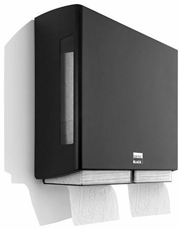 SATINO BLACK BriQ double Toiletpapierdispenser 180306