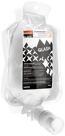SATINO BLACK Qlash toiletbrilreiniger cartridge 180328