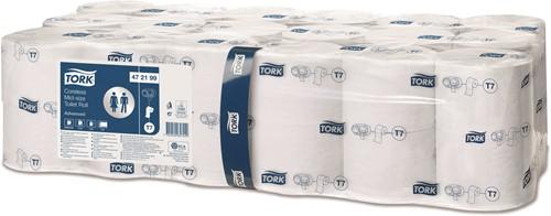 Toiletpapier Tork  Hulsloos Mid-size  2-laags Wit T7 Advanced 472199 T7 pak a 36 rollen
