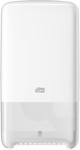 TORK Twin Mid-size Toiletpapier Dispenser Kunststof  Wit T6  557500