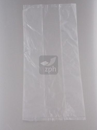 PLASTIC ZAK 26x35 cm zijvouw ( 16x10x35 ) LDPE 18 mµ HELDER HALF BROOD