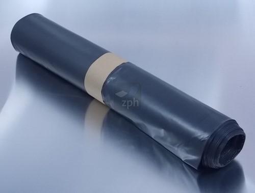 AFVALZAK 85x100 cm  70 micron LDPE GRIJS