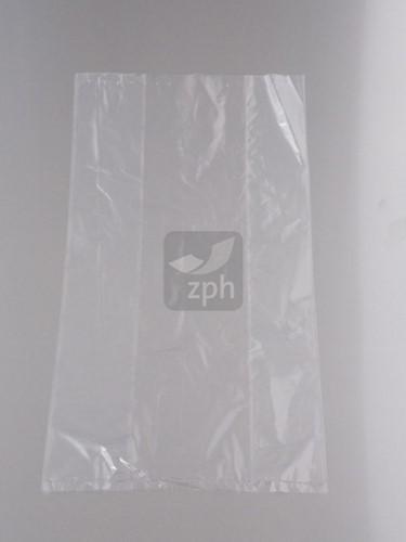 PLASTIC ZAK 28x35 cm. zijvouw (20/4x35) LDPE 20 micron HELDER