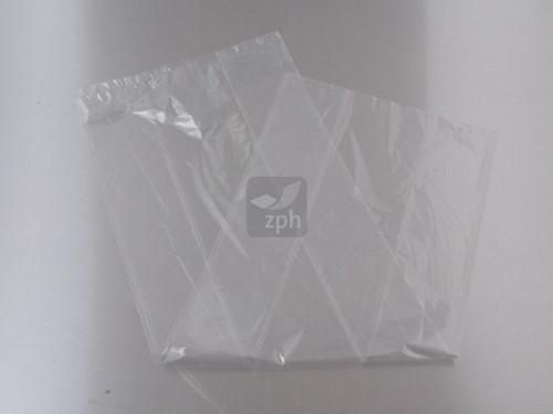 PLASTIC ZAK 28x50 cm. zijvouw (20/4x50) LDPE 20 micron HELDER