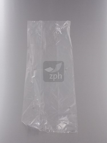 PLASTIC ZAK GEPONST  22x38 cm zijvouw (14x8x38) LDPE 20 micron HELDER