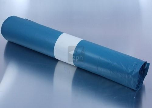 AFVALZAK breed  80x110 cm   LDPE  T60 BLAUW