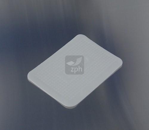 SCHUIMSCHAAL EPS 12x17 cm WIT ONDULEES (plat)