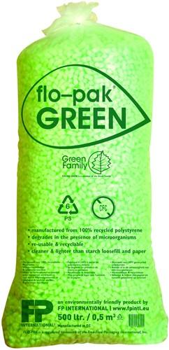 FLOPAK GREEN LOOSEFILL 100% gerecycled materiaal zak a 500 liter