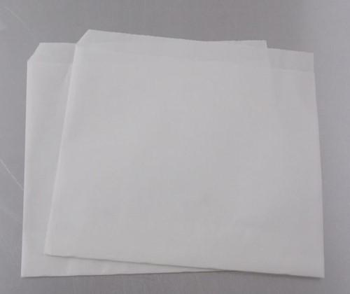 SHOARMA / HAMBURGER ZAKJES WIT BLANCO  15,5x15 cm. p/kg.