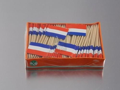 COCKTAIL PRIKKERS NEDERLAND VLAG  KRIMP a 5 doosjes x 144 stuks
