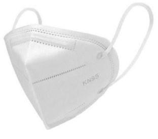 Mondmaskers met synthetisch elastiek en neusclip Type FFP2,  vouwbaar met meltblown pp filter unisize   doos a 750 stuks  (150x5)   model CK501