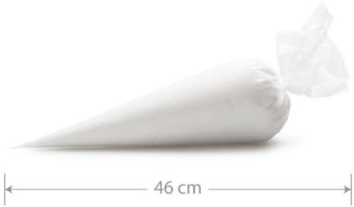 SPUITZAKKEN  46x26 cm ROL a 100 st. Comfort clear transparant M medium
