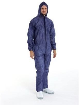 OVERALL PP NON WOVEN LARGE  40 grams  BLAUW coverall
