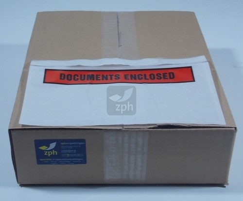 "PAKLIJST ENVELOPPEN zelfklevend  ""DOC. ENCLOSED""  225x115 mm. PREMIUM"