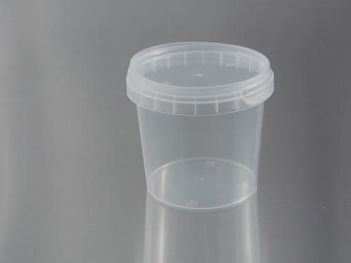 JONICUPS PP BEKER ROND + DEKSEL Ø 95x79 mm 365 cc Transparant