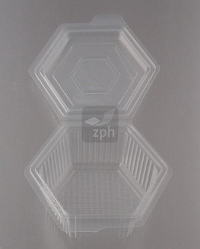 MENUBOX SALADE PP 145x145x60 mm 375 cc  transparant