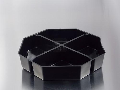 OCTAVIEUW ps INLAY 23x23 cm 4 VAKS ZWART COLD USE