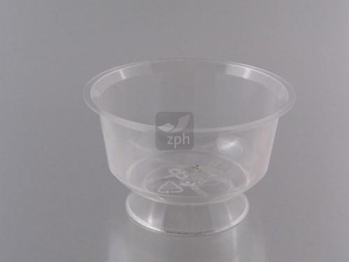 BAKJE CUP OP VOET DESSERT CUP PS 95 mm 150 cc TRANSPARANT GLASHELDER