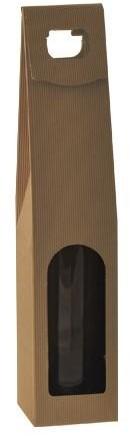 1 FLES DRAAGKARTON 90x95x365 - 450 mm KRAFT NATUREL  ( open golf )