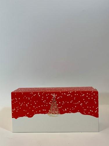 MINI STOLDOOS kerststol 260x120x75 mm  ETOILE  dessin 0765 klein  op=op