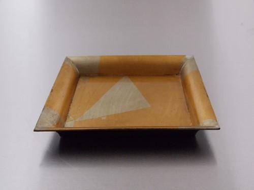 DECORATIESCHAAL  4kant 20 x 20  cm  GOUD