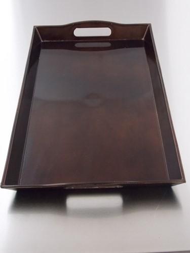 DIENBLAD 41 x  25 cm   DONKERBRUIN