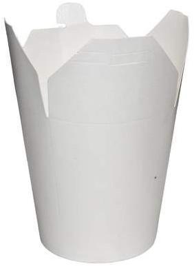 Noodle Wok beker 32 oz  950 ml  wit blanco karton
