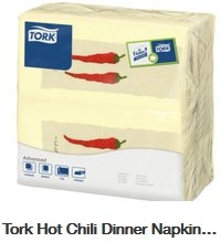 SERVET DINNER HOT CHILI 39x39 cm 2 lgs  1/8 v tissue champ. 478142