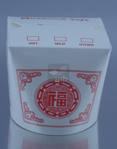 Noodle Wok beker 26oz 760 ml)  wit / China print