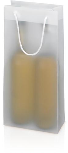 DRAAGTAS 170x85x360 mm +koord semi transparant 2-fles model