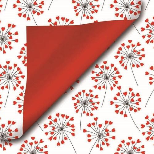 DESSINPAPIER Royal duo flower hearts 50 cm 517